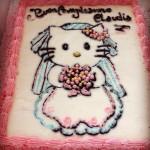Un altro capolavoro di #torta con #HelloKitty vestita da sposa!…